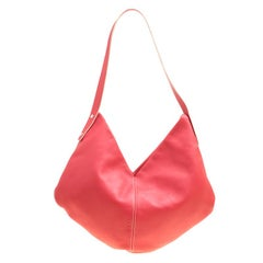 Loewe Cerise Red Leather Hobo