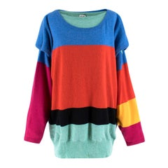 Loewe colour-block wool and cashmere-blend sweater XS