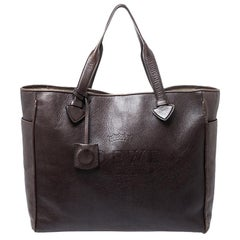 Loewe Dark Brown Leather Heritage Shopper Tote