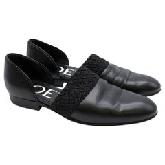 Loewe Flex D'Orsay Braided Leather Loafers SIZE 36