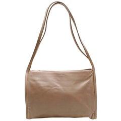 Loewe Greige Leather Vintage Shoulder Bag