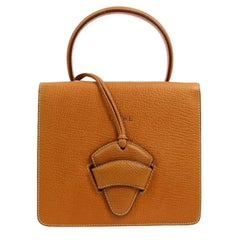 Loewe Leather Small Kelly Style Top Handle Satchel Evening Flap Bag