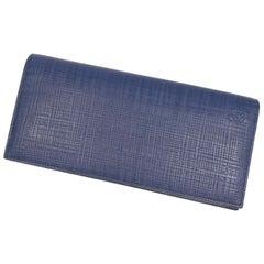 LOEWE long Horizontal Wallet Anagram Mens long wallet 101.88.978 Navy