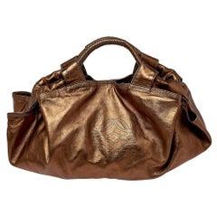 Loewe Metallic Bronze Leather Aire Hobo