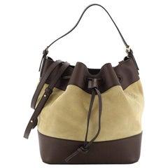 Loewe Midnight Bucket Bag Suede and Leather Medium