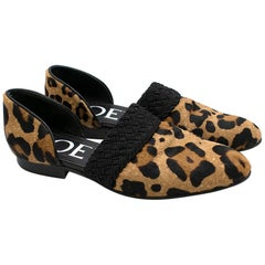 Loewe Multicolor Flex Calf Hair D'orsay LoafersSIZE 36