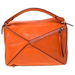 Loewe Orange Leather Puzzle Bag
