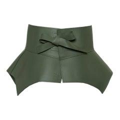 Loewe Pickle Green Leather Obi Waist Belt M