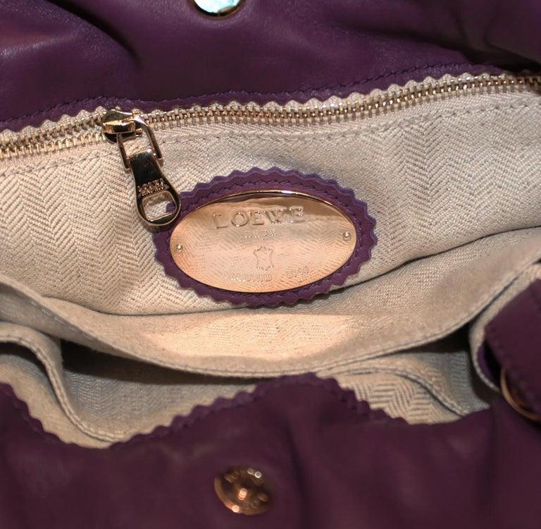Loewe Purple Flamenco Tassel Bag For Sale 1