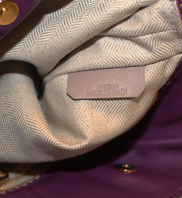 Loewe Purple Flamenco Tassel Bag For Sale 2