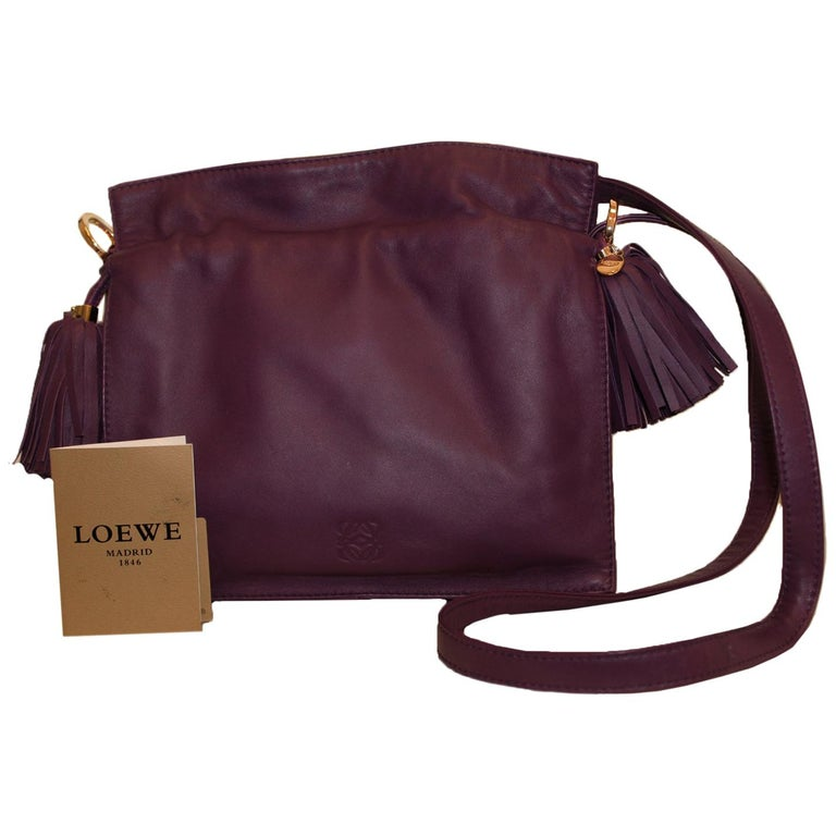 Loewe Purple Flamenco Tassel Bag For Sale