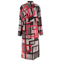 "Loewe ""Red Airbrush Square Cape Dress"" Catwalk Dress"