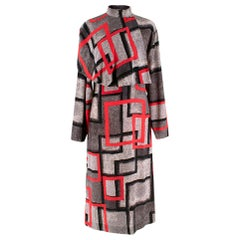 "Loewe ""Red Airbrush Square Cape Dress"" Catwalk Dress	- Size US 4"
