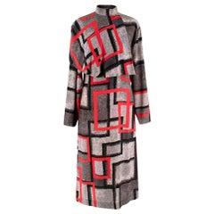 "Loewe ""Red Airbrush Square Cape Dress"" Catwalk Dress- Size US 4"