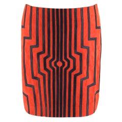 Loewe Red Suede Cyborg Mini Skirt - Size US 4