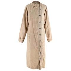 Loewe Sand Linen Long-Sleeve Maxi Dress - Size US 6