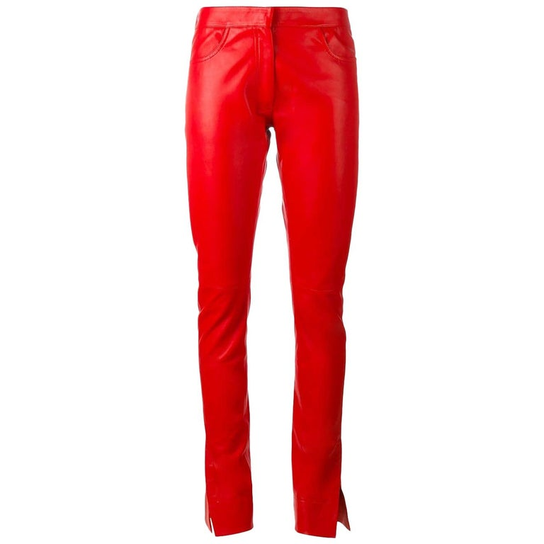 Loewe leather trousers, 21st century, offered by Nikki Bradford