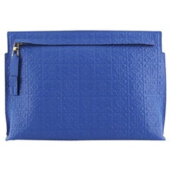 Loewe T Pouch Anagram Embossed Leather