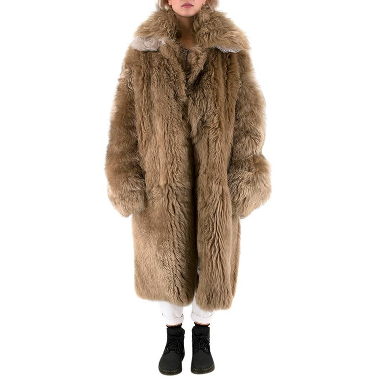 Loewe Toffee Lamb Shearling Double Collar Coat S/M For Sale 1