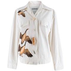 Loewe White Geese Print Jacket - Size US 4