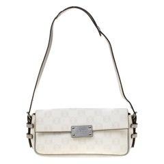 Loewe White Signature Printed PVC Shoulder Bag