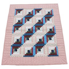 Log Cabin Crib Quilt from Pennsylvania
