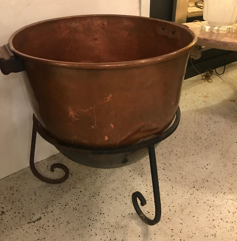 American Log Holder or Jardinière Planter Originally a Candy Cauldron For Sale