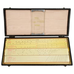 Logarithmic Slide Rule Original Box, 1930s