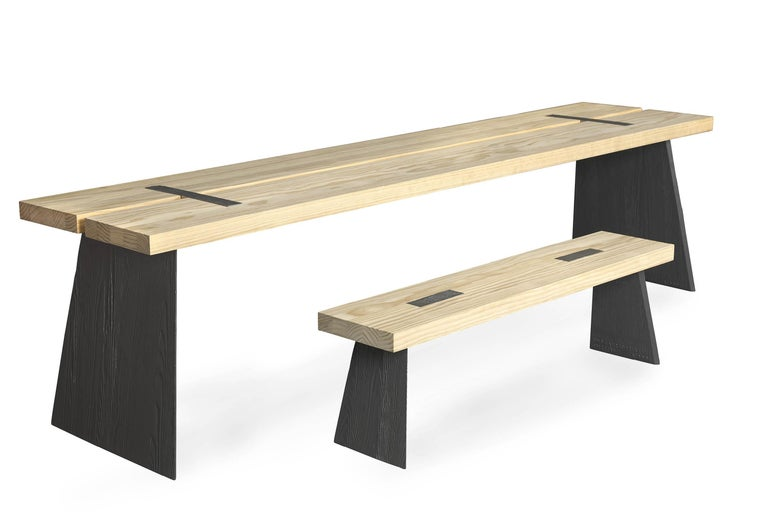 Scandinavian Modern Loggia Bench For Sale