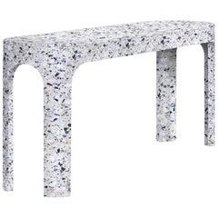 Loggia Console, White Terrazzo Marble by Portego