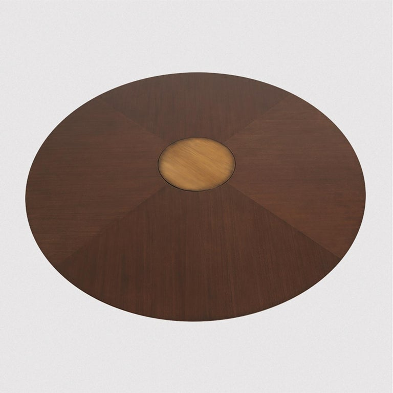 Brass Logical Round Table For Sale