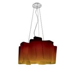 Logico Amber Triple Pendant by Gerhard Reichert & Michele De Lucchi