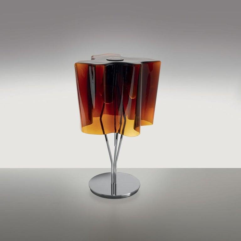 Modern Logico Mini Table Lamp in Tobacco by Gerhard Reichert & Michele De Lucchi For Sale