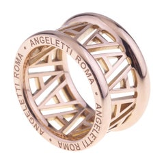 Logo by Angeletti Rose Gold Ring Large Size