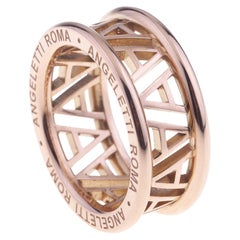 Logo by Angeletti Rose Gold Ring Small Size