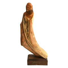 Lohan Arhat Sculpture Hand Carved Solid Wood