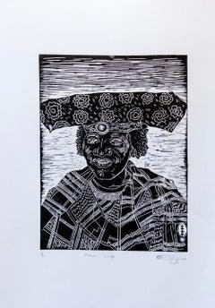 Mukulu Wandje. Linoleum Block Print on Paper, 1/20