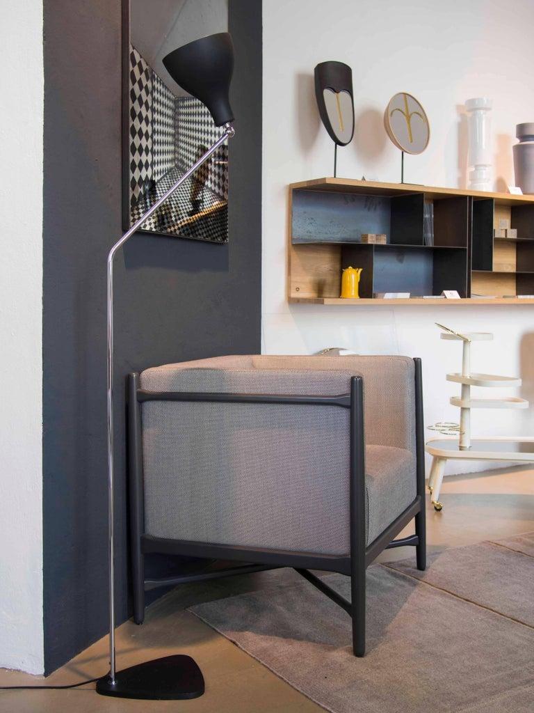 Loka Armchair Beech, Comfortable Design Upholstery Modern Style For Sale 5
