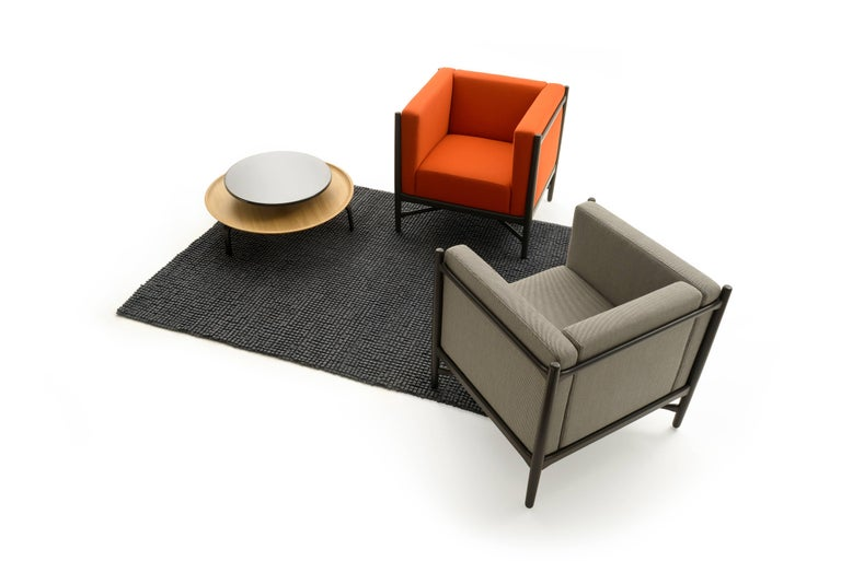 Loka Armchair Beech, Comfortable Design Upholstery Modern Style For Sale 3