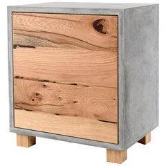 LOKI Concrete Oak Cabinet Handmade in Italy