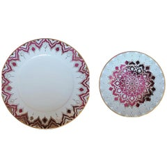 Lokoum Set of 2 Porcelain Plates