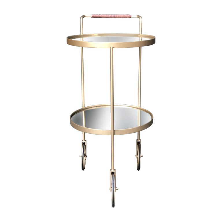 True to her enthusiasm for the Modernist Movement Alessandra Delgado was inspired by Jorge Zalszupin timeless architectonic view to create the bar cart