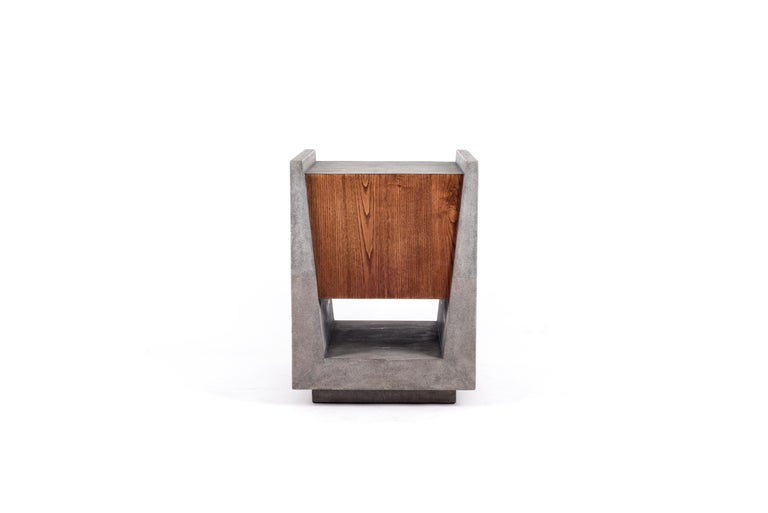 Lola Bedside Table in Shagreen and Bronze-Patina Brass by R&Y Augousti For Sale 2