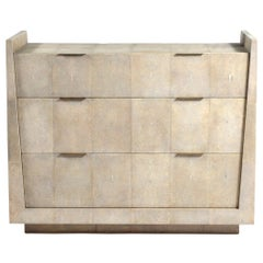 Lola Chest of Drawers in Cream Shagreen by R&Y Augousti