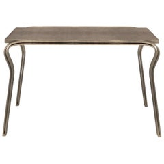 Lola Console Table in Brown Shagreen and Bronze-Patina Brass by R&Y Augousti