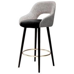 Lola Counter Stool Brass footrest