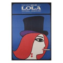 Lola Original Polish Film Poster, Maciej Hibner, 1967