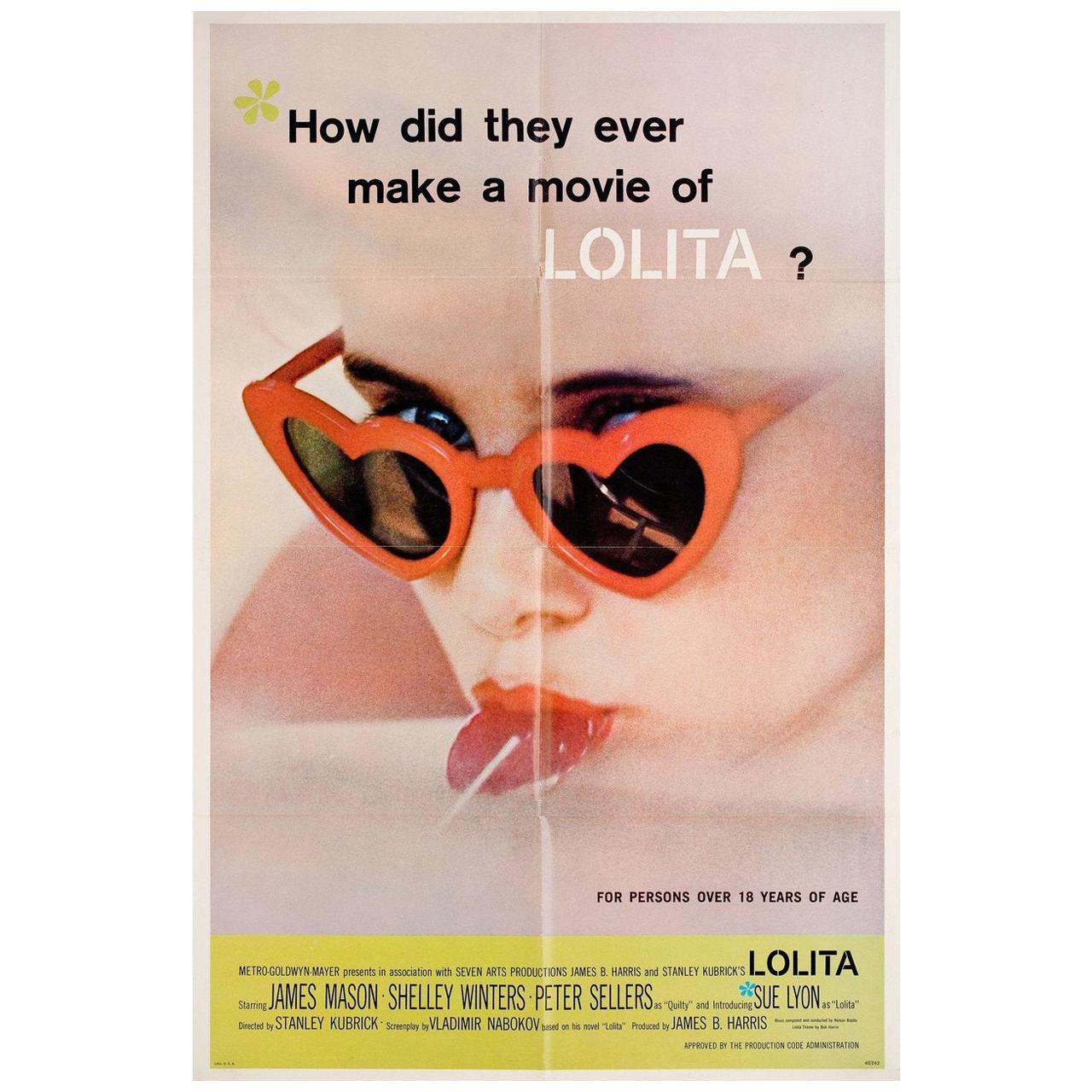 Lolita 1962 U.S. One Sheet Film Poster