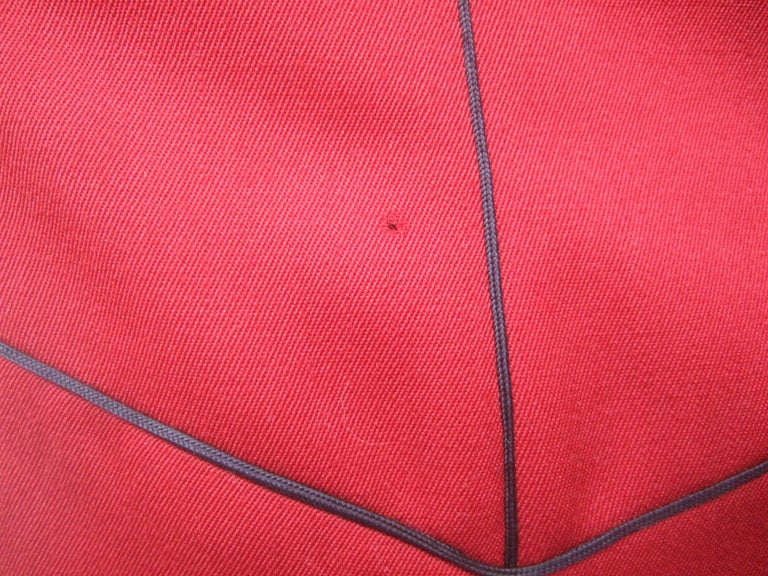 Lolita Lempicka Paris Red Wool Face Button Double-Breasted Blazer c 1980s For Sale 13