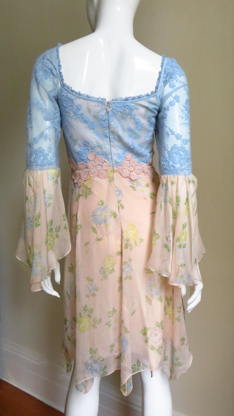 Lolita Lempicka Silk Dress with Lace  For Sale 5